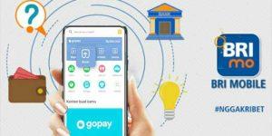 Top up Gopay BRI Mobile Banking