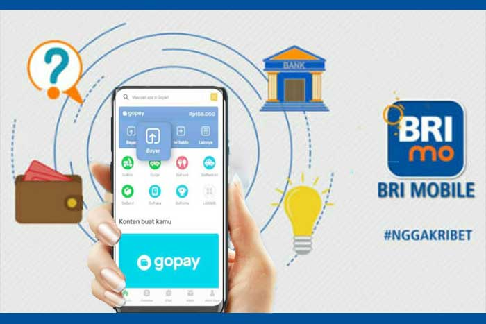 Top up Gopay BRI Mobile Banking